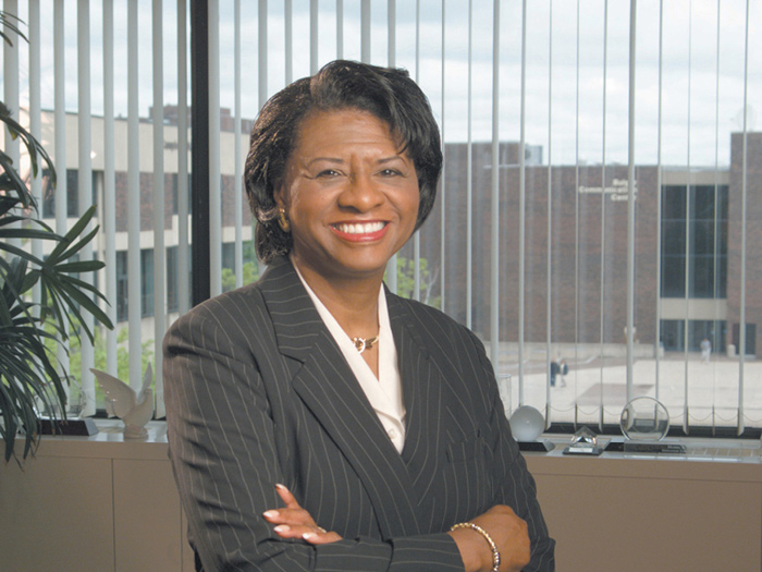 Dr. Muriel Howard is the President of the American Association of State Colleges and Universities.
