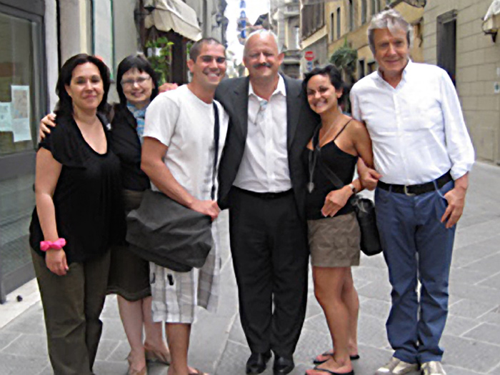 College of Staten Island President Dr. Tomás Morales (third from right) on his trip to Italy
