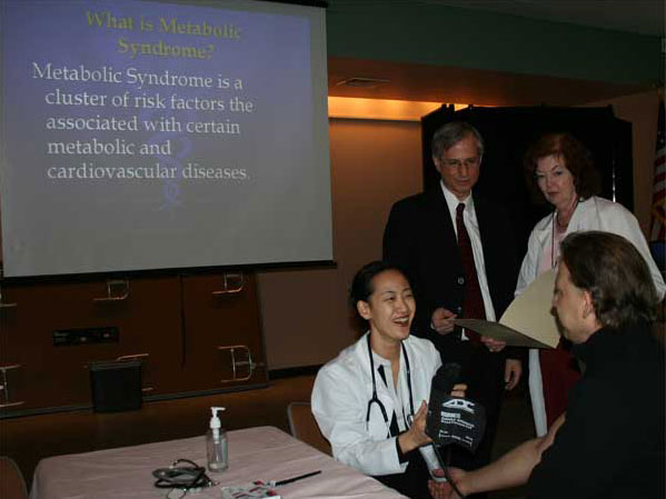 CSI Students and Researchers Host Clinics to Combat Metabolic Syndrome.