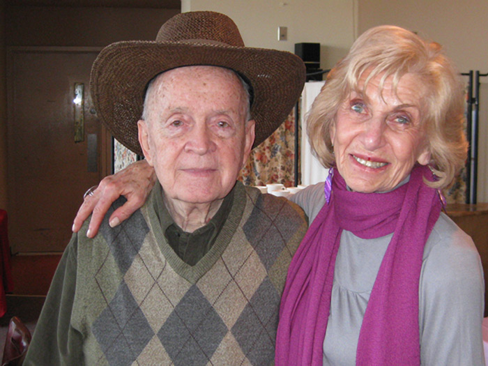 Co-chairs Dr. Irene Deitch and Bob Chiles at last week's Academy of Retired Professors meeting.