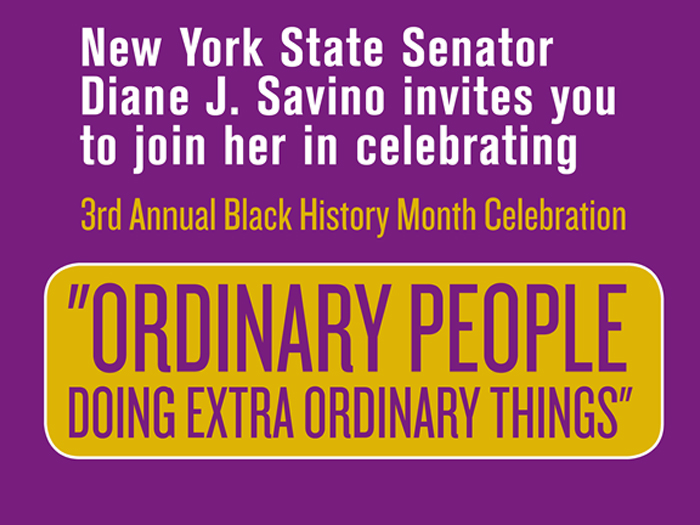 The Annual Black History Month Celebration will be held in the Williamson Theatre on February 26.