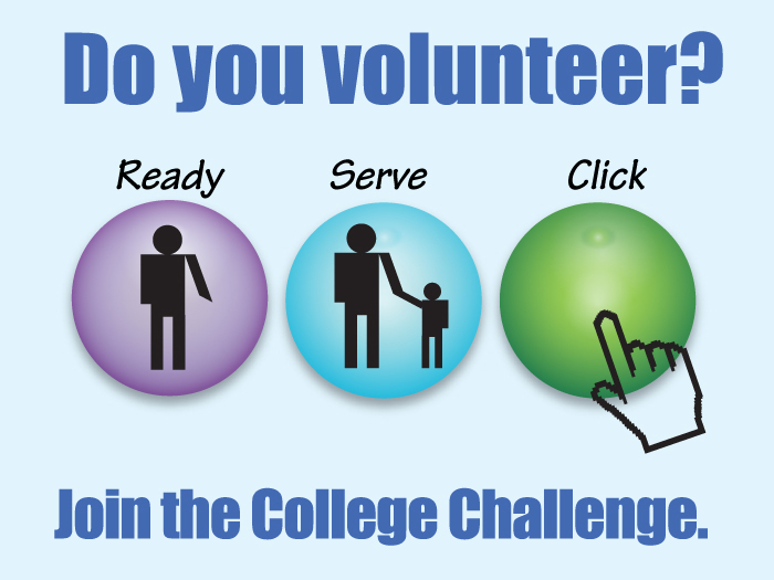 Members of the College community are encouraged to volunteer as part of the College Challenge.