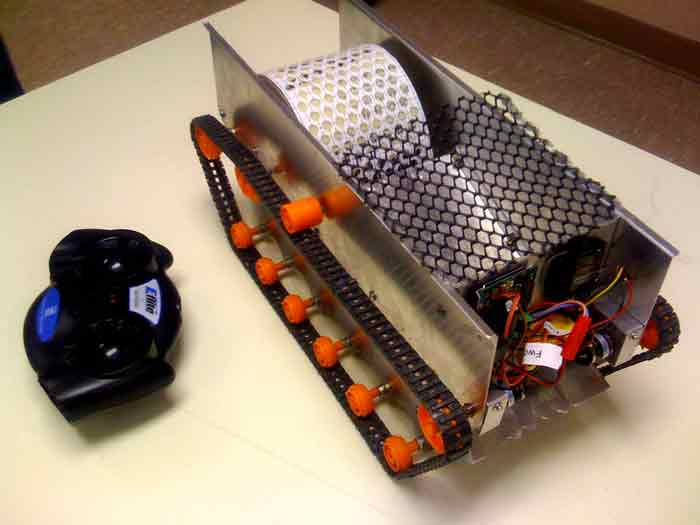 One of the two robots that CSI students recently entered in the 2009 ASME Student Design Competition