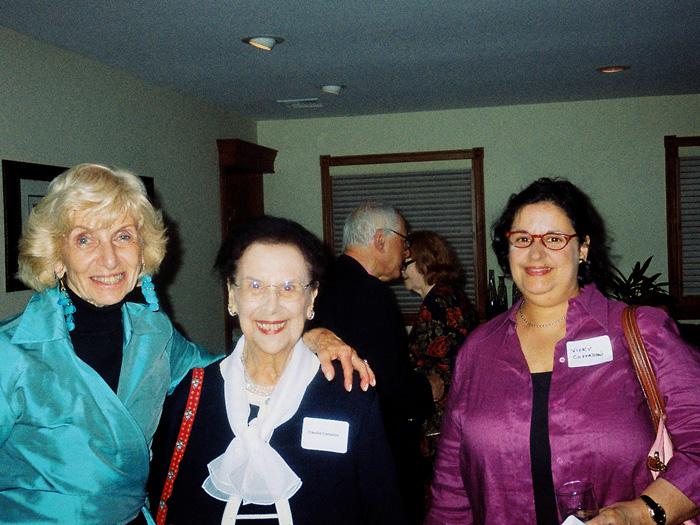 [L-R]: Irene Deitch, Claudia Corradini, and Vicky Corradini at last September's reception at Dr. Morales's home