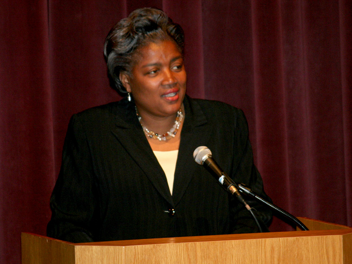 Donna Brazile was a keynote speaker at the 2010 Student Leadership Conference: Inspiring Civility.