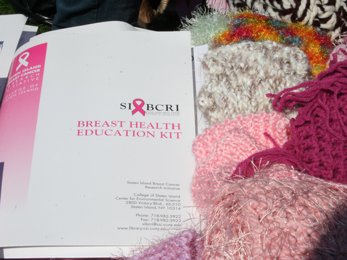 The SIBCRI sold scarves and sought to raise breast cancer awareness at this year's Fall Festival.