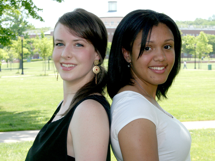[L-R] Tara Meiners and Justine Pinzone have been accepted into the Teaching Assistantship Program.