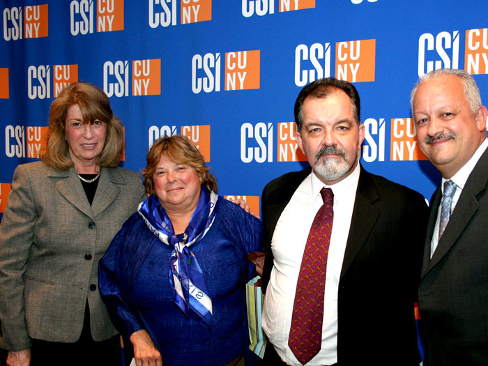 [L-R] Christine Cea, Nancy Myers Benbow and Christopher Benbow, and Dr. Tomás Morales