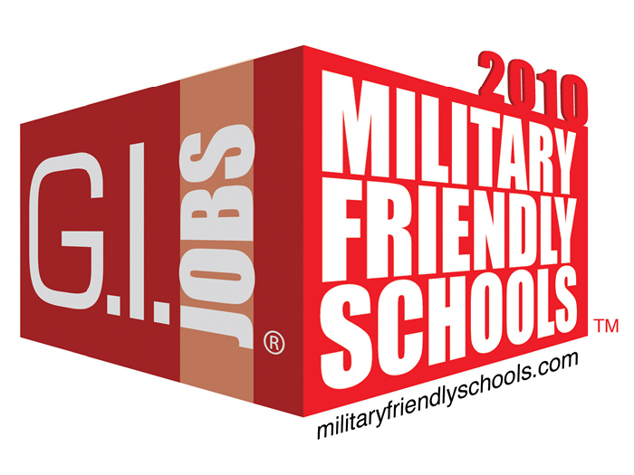 CSI has been selected for inclusion in the G. I. Jobs 2010 list of Military Friendly Colleges.