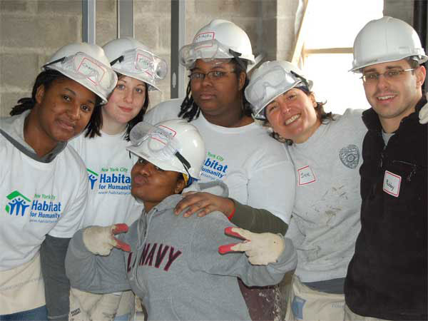 College of Staten Island students volunteered with Habitat for Humanity to help New Yorkers in need.