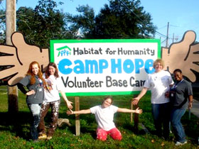 CSI Hillel members took a trip to New Orleans over Winter Break to help a resident rebuild his home.