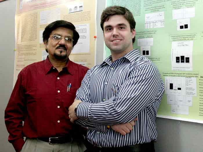 Dr. Probal Banerjee and Jason Ford, who was recently accepted into a prestigious MD/PhD program.
