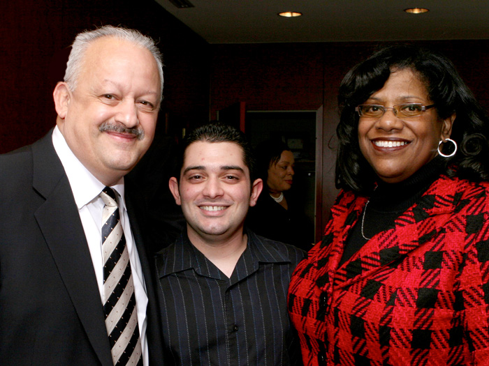 [L-R] Dr. Tomás Morales, Nick Iambrone, and Deborah Rose at last week's legislative breakfast