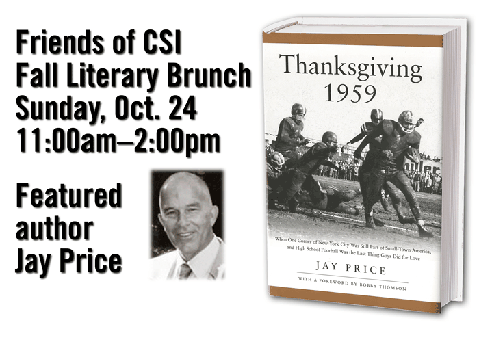 Sportswriter Jay Price will be the featured speaker at this year's Friends of CSI Literary Brunch.