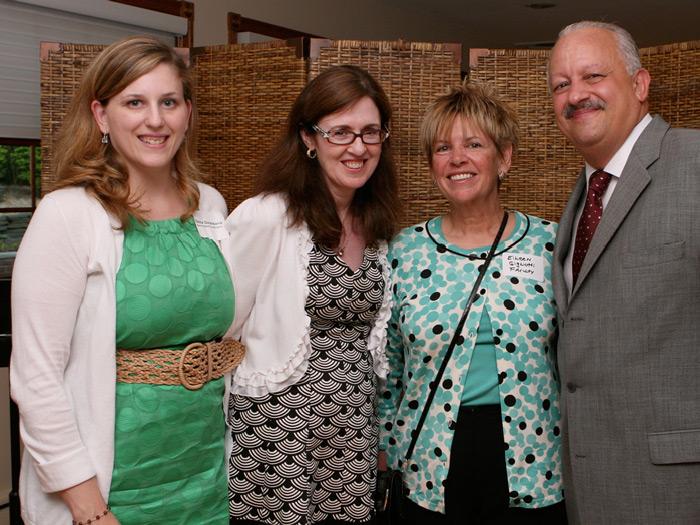 [L-R] Donna Garambone, Jennifer Lynch, Nursing Professor Eileen Gigliotti, and Dr. Tomás Morales