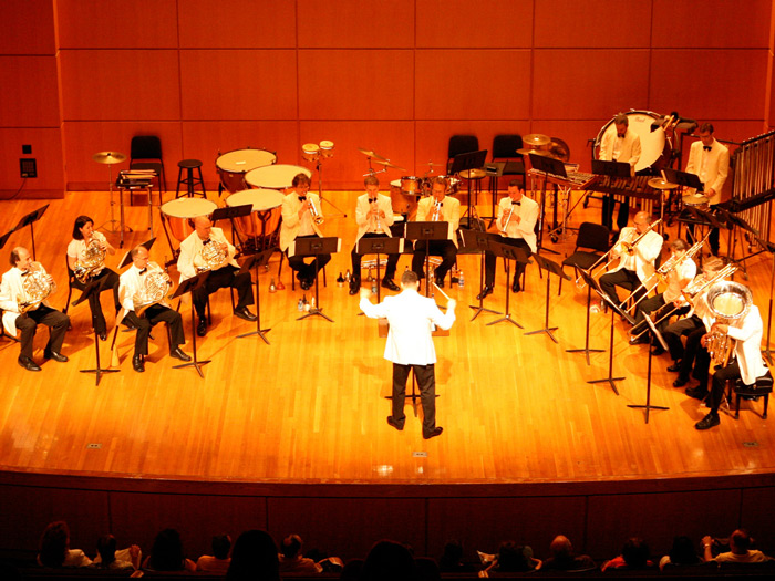 The NY Philharmonic's Brass-and-Percussion Ensemble treated an audience at CSI to a free concert.