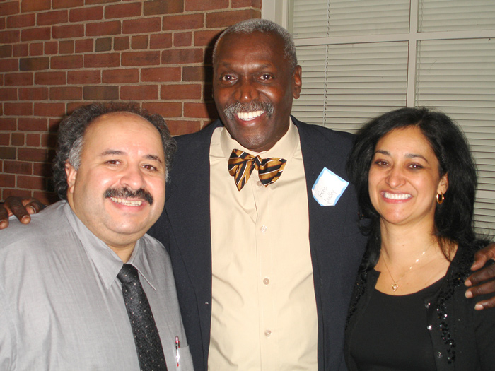 [L-R] Tony Gallego, Eugene Dudley, and Angie Gallego at the SEEK Program alumni reunion last Friday
