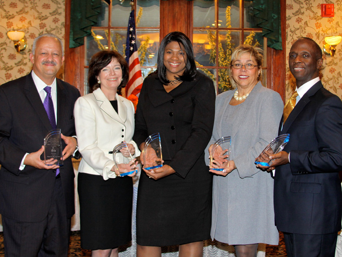 CSI President Dr. Tomás Morales (far left) poses with other New York Urban League honorees.