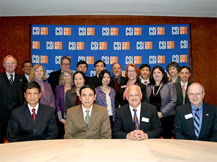 University leaders from Vietnam met with CSI President Tomás Morales and other College officials.
