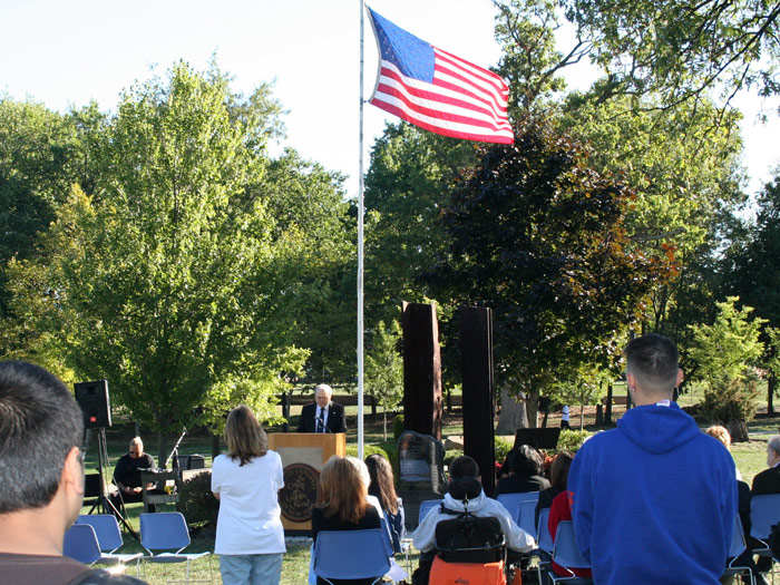 Students, faculty, staff, and alumni gathered last Saturday for the annual 9/11 remembrance program.