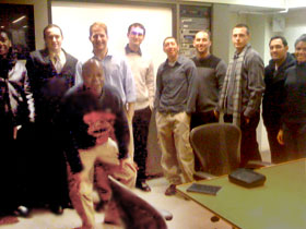 Members of the CSI Marketing Club during visit to Young & Rubicam in Manhattan over Winter Break.